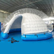Outdoor camping family use or event inflatable clear dome tent , inflatable crystal bubble tent