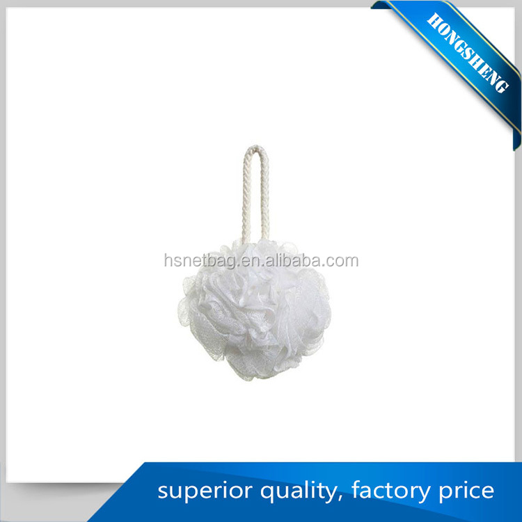 Manufacturer directly supply PE bath mesh sponge back scrubber
