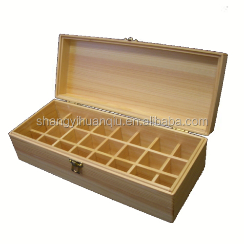 2017 top grade latest design handmade decorative wooden essential oil packing box