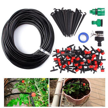 Hot Diy Micro Drip Irrigation System Plant Automatic Watering Garden