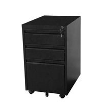 new style 3 drawer filing cabinet metal locker with mobile wheels