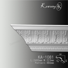 Factory offer high density pu cornice moulding/trim strip line