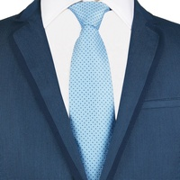 Wish Lazada Aliexpress Selected Man Fashion Polyester Woven Light Blue Tie