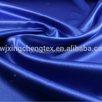 3066b2ecb41 Polyester Royal Blue Satin Crepe Back Satin fabric From Wujiang Runze  Textile