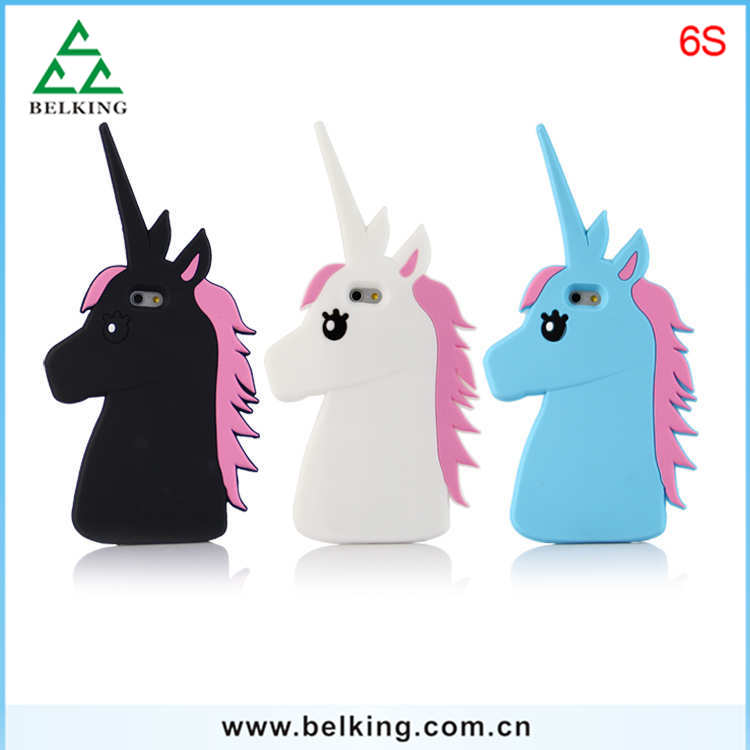 For iPhone 6S Unicorn Case / Rubber silicone Horse Case for iPhone 6 6S Plus