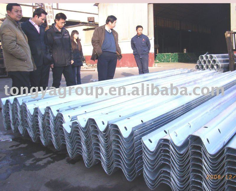 Highway guardrail road safety barrier highway