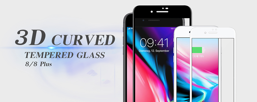 Hot Products !! 0.2mm 9H Colorful 3D Curved Tempered Glass screen protector for iPhone 7/ 7plus / 6 / 6 Plus