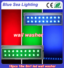 remote control dmx led wall washer uplights 18pcs x18w
