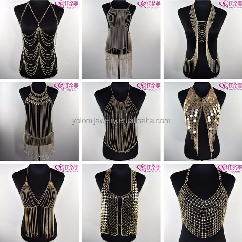 Gold Body Chain Jewelry in Bulk Yiwu Sexy Body Chain Jewelry Making Supplier Body Jewelry