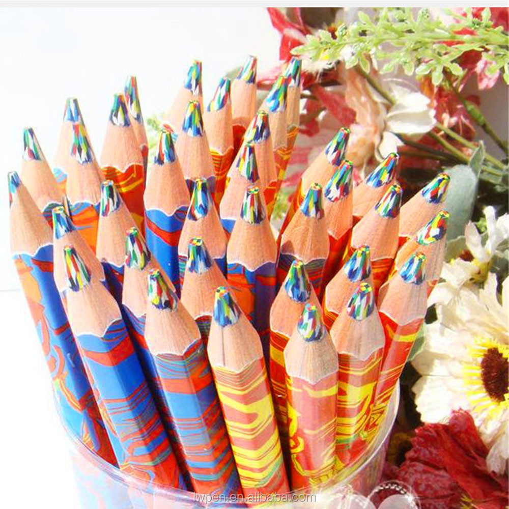 Wholesale bulk buying wood material kids invisible color changing pen