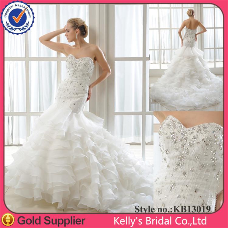 princesa elegante estilo exquisito con cuentas novia sirena hermosa