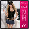 Sunspice hot sale fashionable style woman sexy leather fetish woman costume with mini skirt