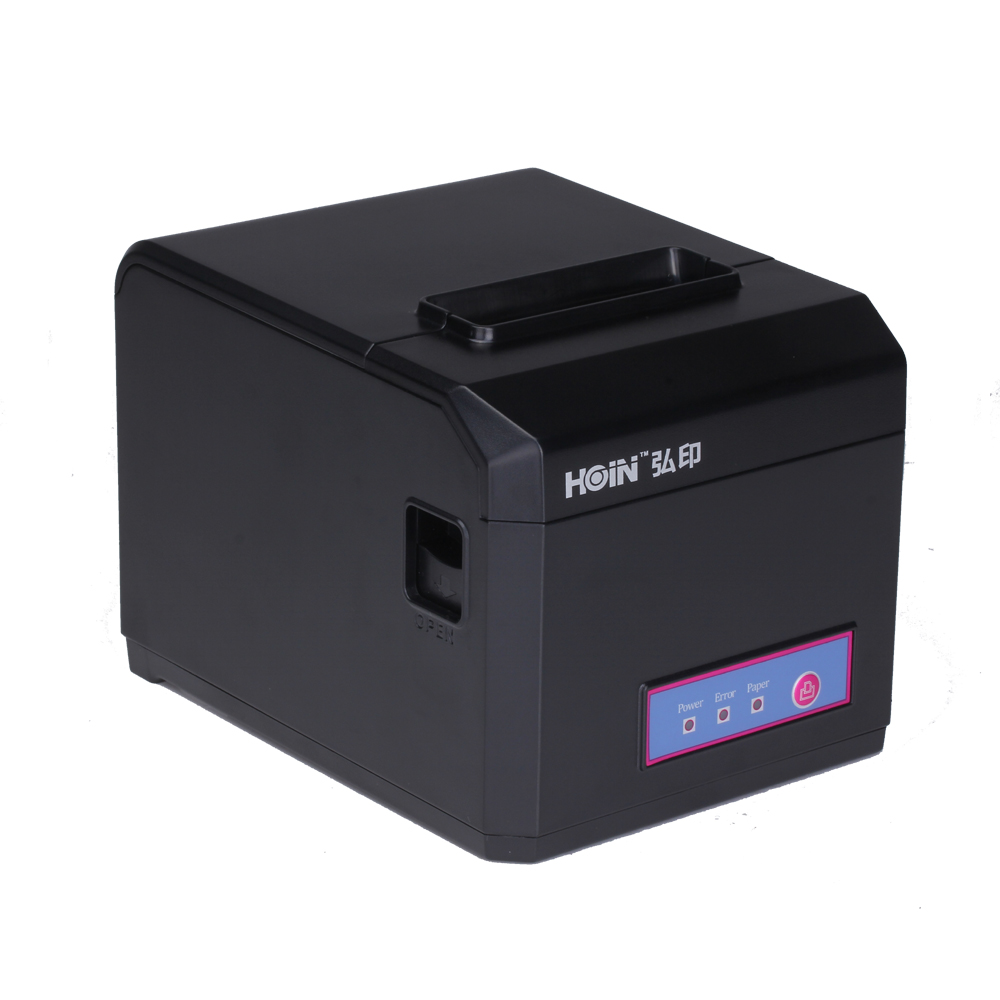All in one Internet(100M)+USB+COM Pos systems Black and White thermal Receipt printer with cash drawer RJ11 фото