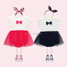 c122e15dcf16 NS0020 babies bow rompers summer baby dress rompers lace body suits for  babies