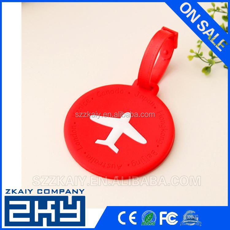 Szzkaiy-0072 Soft Silicone Keychains luggage tag Insert Photo Keyrings key card number Customized Luggage Tags