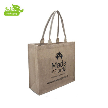 05b15c6c44 Jute Grocery Shopping bag Burlap Beach Tote Bag hemp shopping bags wholesale