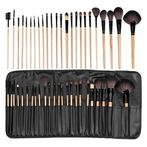 Cosmetics and makeup factory 24 pcs wood handle make up brush set