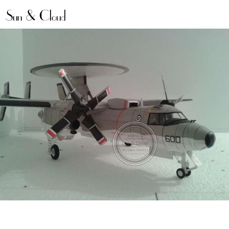 e9aa584795ab2 1 32 3D American Northrop Grumman E-2C Hawkeye Plane Aircraft Paper Model  Assemble Hand Work Puzzle Game DIY Kids Toy - us607