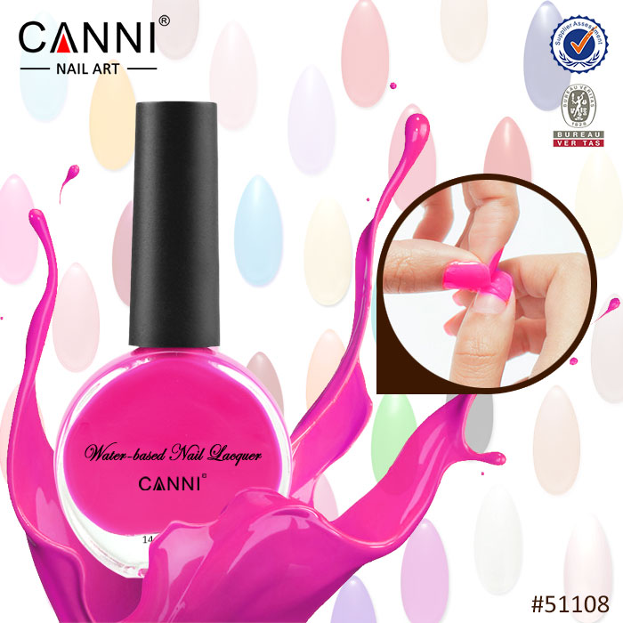 #51108J 2017 hot sale canni factory supply nail art private label cosmetics water base peel off nail polish manufacturers