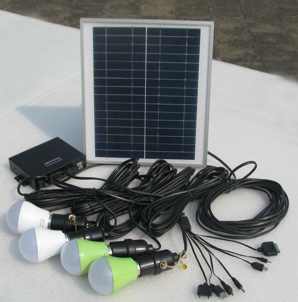 2015 BRAND NEW/ 8W portable solar home lighting kit with 4pcs led lights