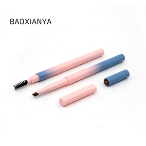 Customized logo cosmetic make your own brand long lasting pen eye brow OEM semi permanent slim eyebrow pencil private label