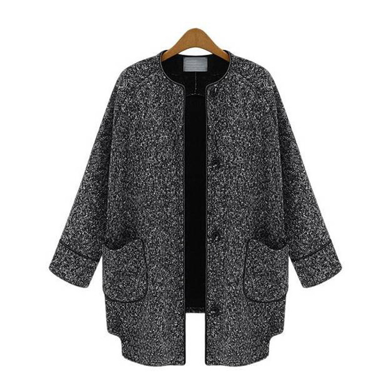 264412433d4 Get Quotations · Long Sleeve Cotton Linen Women Coats And Jackets Solid  Single Breasted Wool Coat Pockets Loose Casual