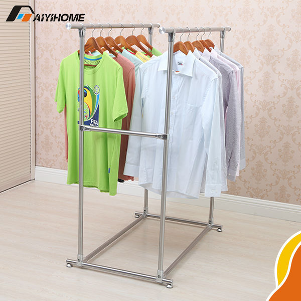 Clothes Display Rack For Kids Family High Quality Clothing Stainless Garment Baby Indoor Double Pole