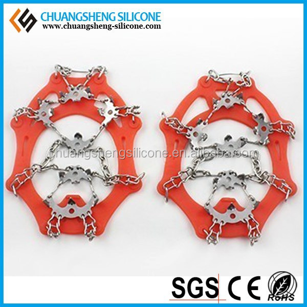 China Manufacturers silicon mini ice grips, mini ice grippers, mini ice cleats for kids