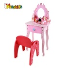 2019 New arrival make up games wooden toy dressing table for girls W08H099
