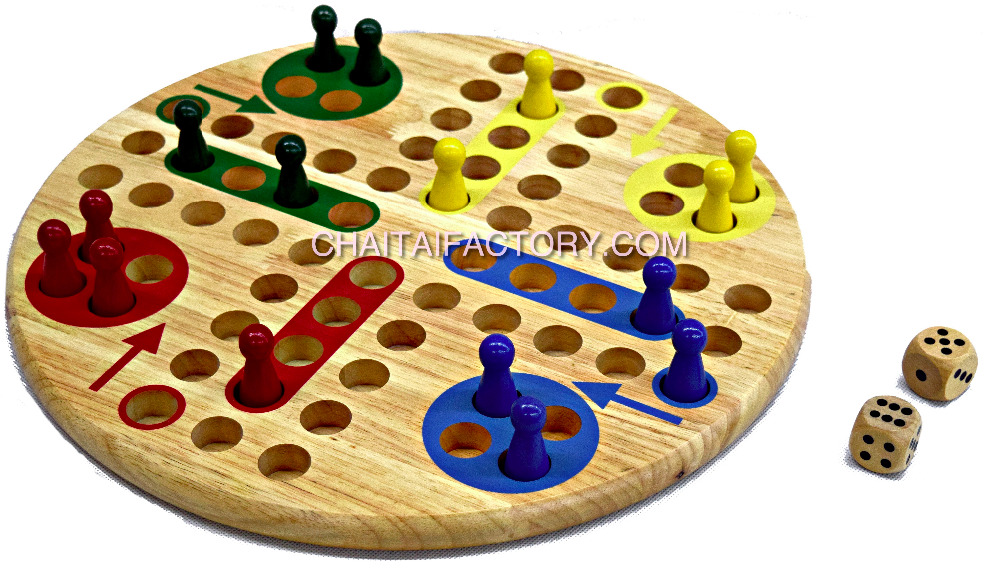 Traditional Wood Ludo