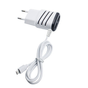 2.4A Dual USB Wall Charger with Cable for Android ,USB Wall Charger with LED