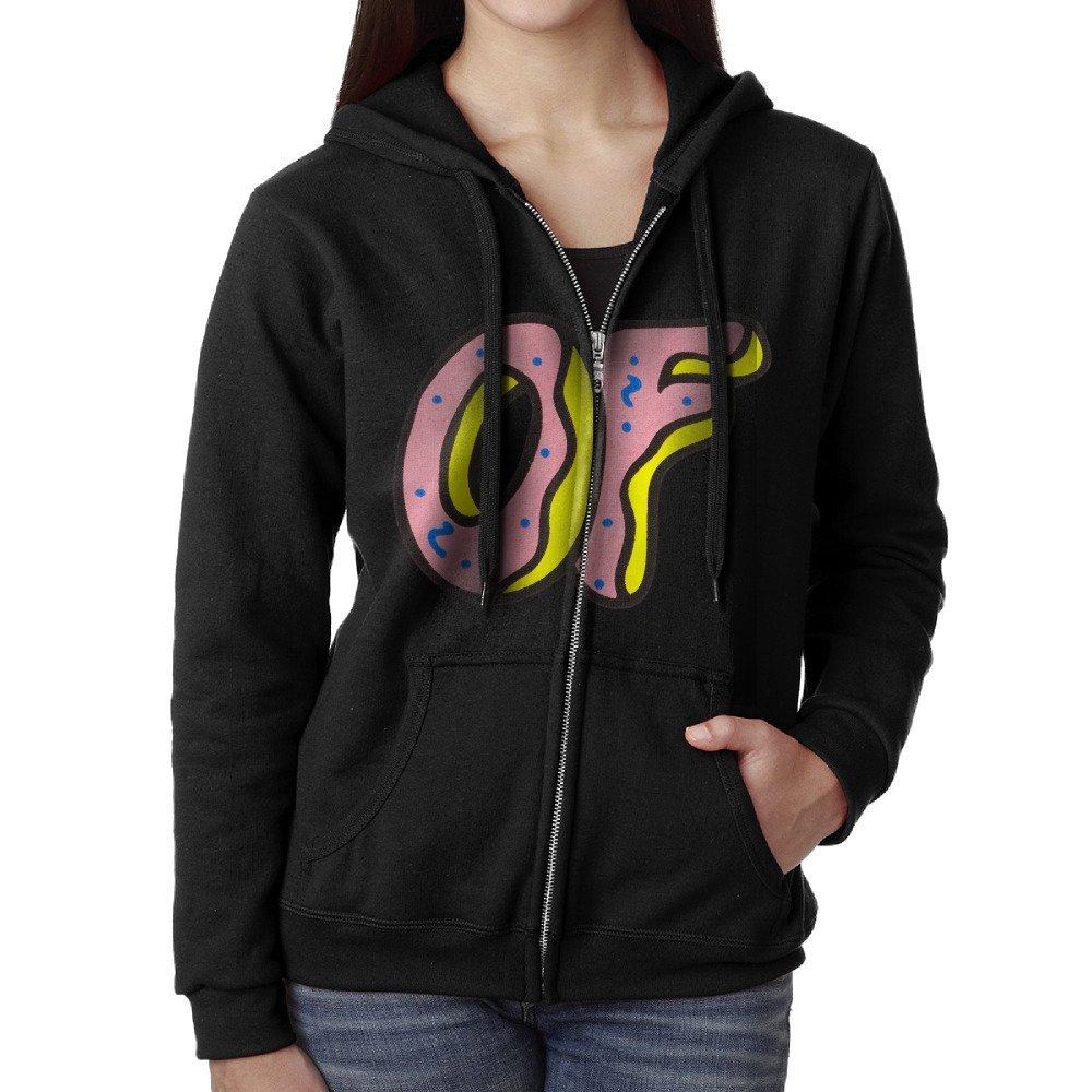 c14874d81f14c0 Get Quotations · AASD Women s Odd Future OF Donut Logo Full-Zip Fleece  Hoodie