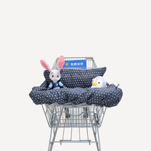 2017 New pattern 100% polyester healthy breathable material cart cover seat positioner shopping cart high chair cover for baby