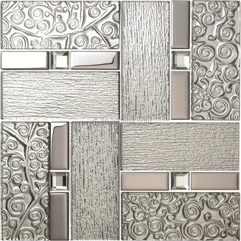 Backsplash Mirror Mosaic Gl Tile