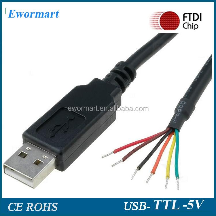 Chipset FTDI USB TTL 232 cabo com fio-ended saída-Cabos de celular ...