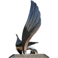 Stainless Steel Abstract Flying Bird Sculpture