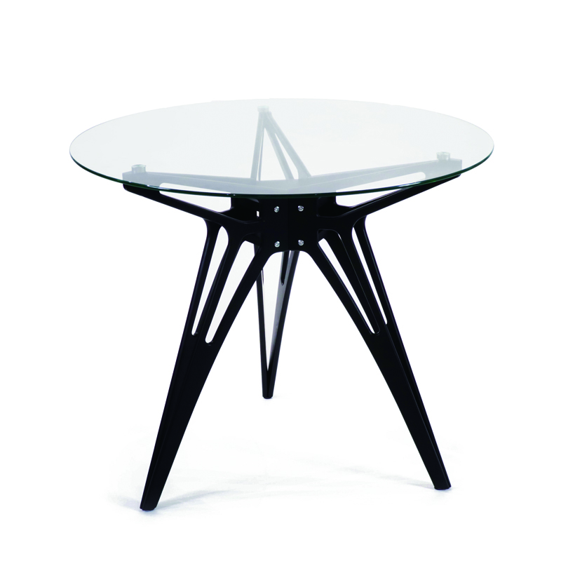 Modern wooden dining table and chairs coffee display table