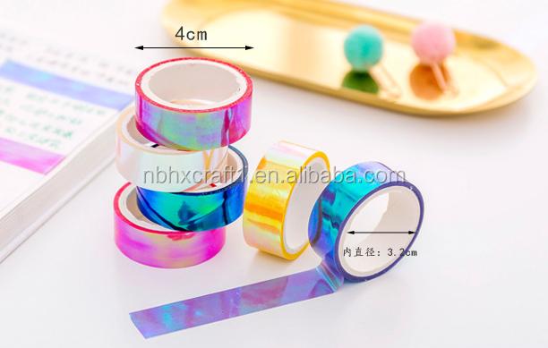 Keren Warna Tangan Tali Dekoratif Tahan Air Tape Kreatif Laser