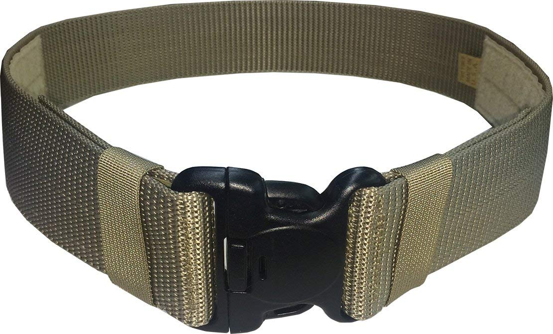 "Fire Force Military Patrol Belt with 2 1/4"" Cop-Lock Buckle (3-Point Release) Made in USA"