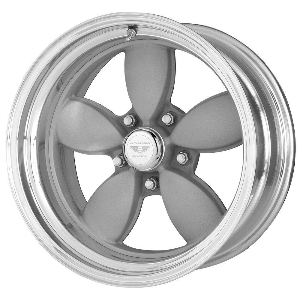 15 Inch 15x8 American Racing wheels wheels CLASSIC 200S Mag Gray Center Polished BARREL wheels rims
