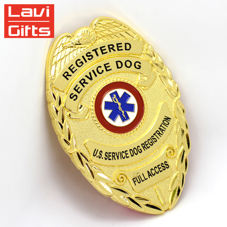 """/""""PD/"""" Police Department Generic Collar Brass Gold Plated"""