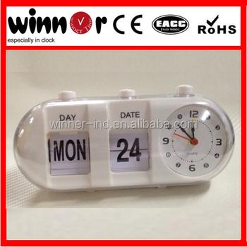 Plastic Day Date Flip Clock Calendar Clock Table Alarm Flip Clock - Buy  Alarm Flip Clock,Day Date Flip Clock,Calendar Clock Product on Alibaba com