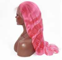 Pink Color Raw Virgin Peruvian Human Hair Full Lace Wigs Vendors Wholesale Wigs For Black Women Cuticle Aligned Hair