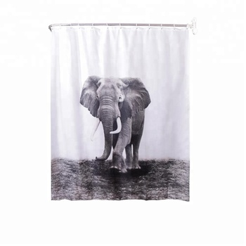 Hot Sale Color Changing Shower Curtain Animal Design Dyeing Gradient Solid Colour