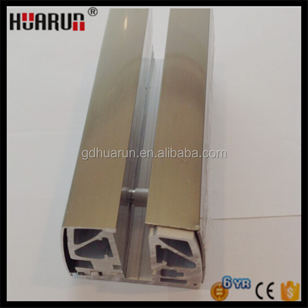 Aluminium balkon geländer design u kanal rahmenlose glas brüstung ...