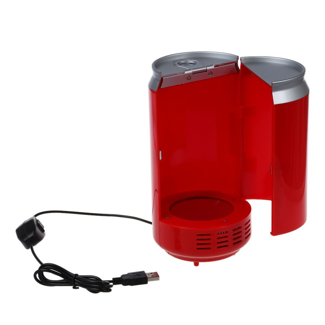 Red Vinmax Mini USB Fridge Portable Beer Beverage Drink Cans Cooler /& Warmer Mini Refrigerator For Car Laptop PC Computer Office Home Travel Picnic Boat