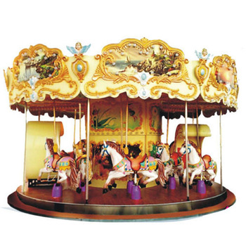 2019 Amusement park equipment toys items merry go round electric kids horse ride used carousel for sale