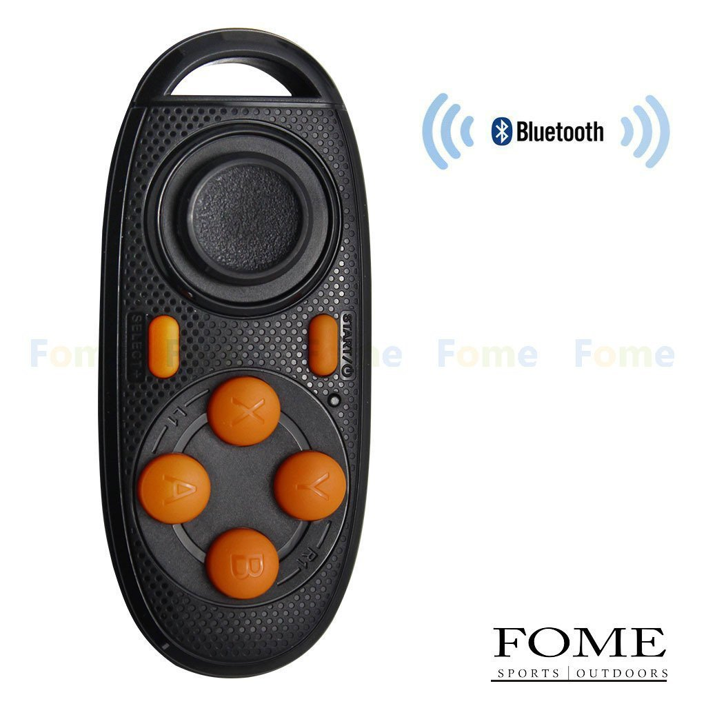 Wireless Bluetooth Remote Controller, FOME SPORTS|OUTDOORS PPT Briefing Wireless Bluetooth Gamepad Remote Controller Compatible with 3D VR Glasses Google Cardboard Selfie Camera Shutter Wireless Mouse Music Player iPhone iPad Ebook Tablet PC TV One Year Warranty