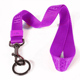 Custom purple flat nylon printed lanyard with safety release