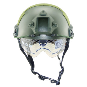 TACTICAL AIRSOFT PAINTBALL SWAT WAR GAME PROTECTIVE FAST MH HELMET WITH GOGGLE